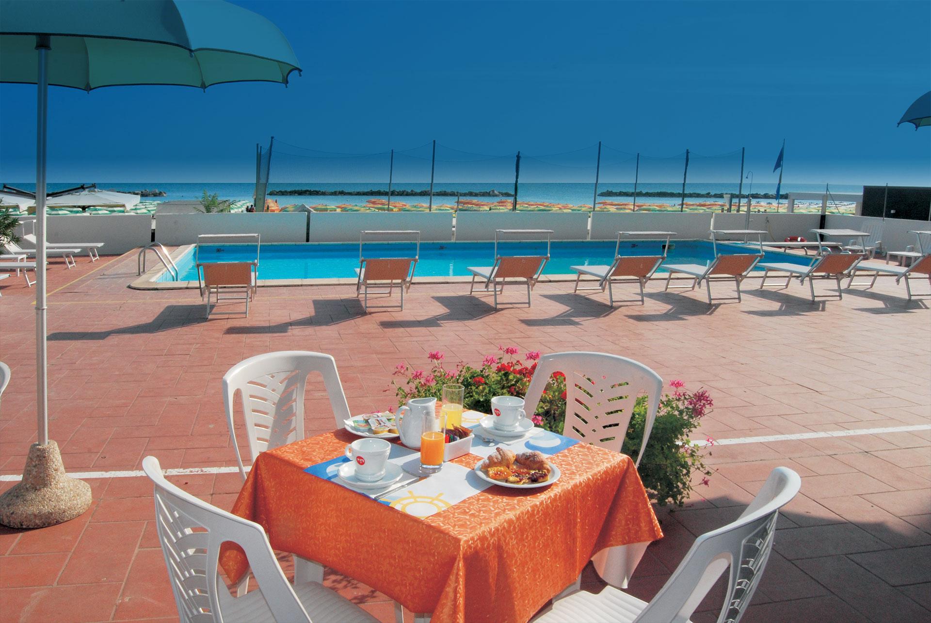 colazione in piscina hotel embassy